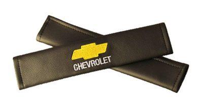 Накладки на ремень безопасности из экокожи (2шт.) CHEVROLET