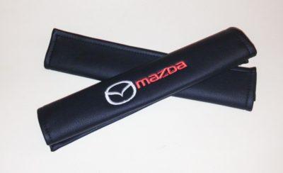 Накладки на ремень безопасности из экокожи (2шт.) MAZDA
