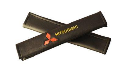 Накладки на ремень безопасности из экокожи (2шт.) MITSUBISHI