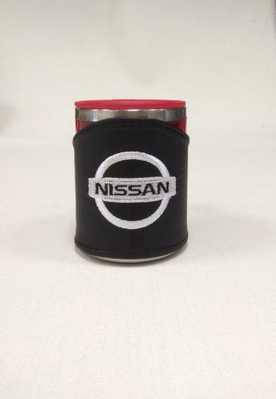 Термокружка в чехле из экокожи с логотипом NISSAN