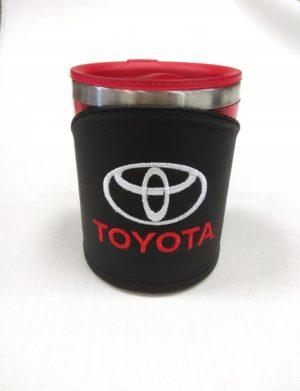 Термокружка в чехле из экокожи с логотипом TOYOTA