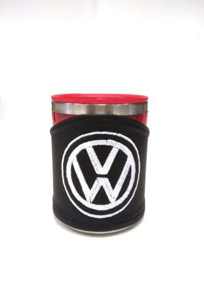 Термокружка в чехле из экокожи с логотипом VOLKSWAGEN