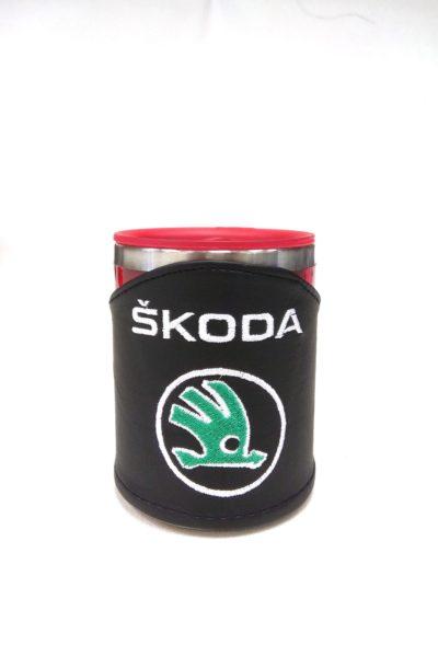 Термокружка в чехле из экокожи с логотипом SKODA