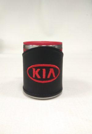 Термокружка в чехле из экокожи с логотипом KIA