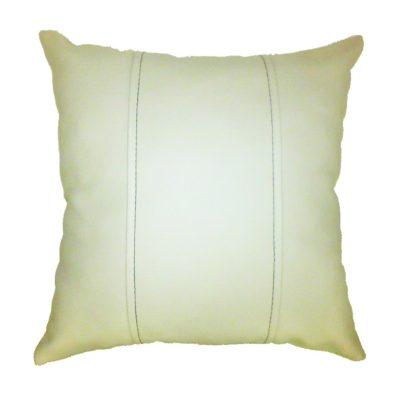 Подушка декоративная из экокожи без логотипа (светл. 33Х33см)