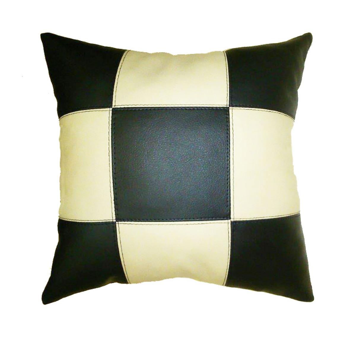 Подушка декоративная из экокожи без логотипа, шахматы 33Х33см