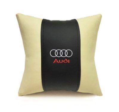 Подушка декоративная из экокожи AUDI