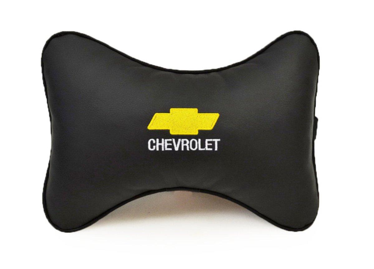 Подушка на подголовник из экокожи CHEVROLET