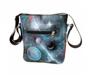 """Мужская сумка с росписью """"Галактика"""""""