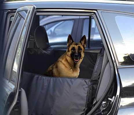 Суперусиленный гамак на задние сидение для перевозки крупных собак ((3 слоя с ПВХ 600) + защита дверей с поддержкой + 5 чехлов на подголовники)